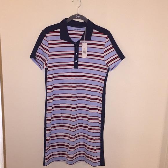 96a5c7b578df Tory Sport Striped Polo Dress